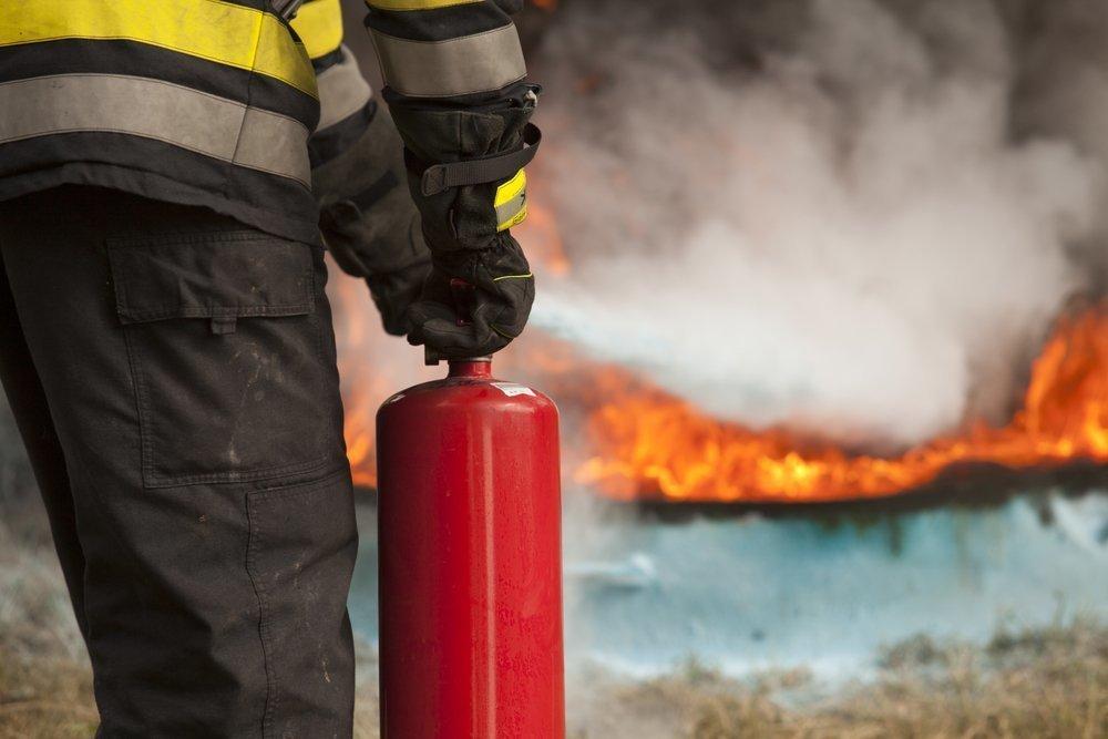 В Анапе в центре города загорелось кафе