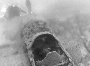 В Чёрном море недалеко от Анапы дайверы обнаружили затонувший истребитель времён войны