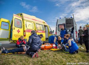 Пострадали 50 человек: у ЖД вокзала Анапы столкнулись «легковушка» и пассажирский автобус