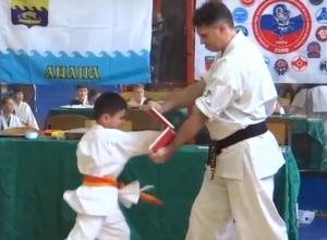 В Анапе юные тхэквондисты разбивали доски кулаком