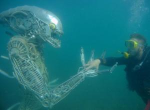 Что делает «Чужой» из фильма ужасов в Анапе на дне Черного моря?