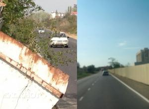 Оторванный забор по дороге в с. Витязево больше не угрожает автомобилистам под Анапой