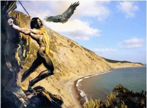 По легенде, Прометей был прикован к скале на Большом Утрише под Анапой