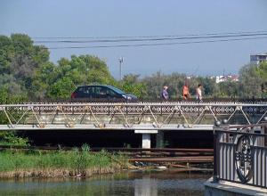 История  города: мост через речку Анапку построен ещё в далеком 1945 году