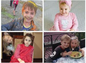 Даниял, Ангелина, Анжелина и Олег - участники конкурса «Детки-конфетки»