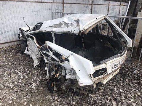 Жуткое и невероятное ДТП под Анапой: грузовик превратил «Ладу» в смятый кусок железа