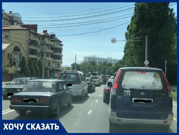 Автолюбитель рассказал, как можно уменьшить количество пробок на въезде в Анапу