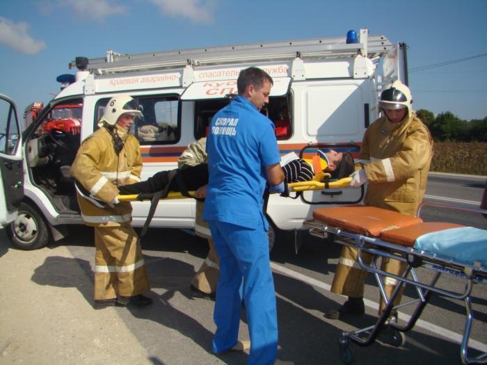 Вой сирен, пострадавшие на носилках: в районе ЖД вокзала Анапы спасатели устроили аварию