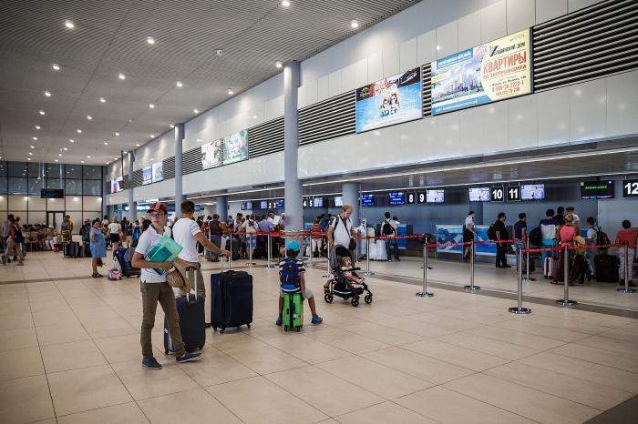 Анапский аэропорт в этом году перевез на 12 % пассажиров больше, чем в прошлом