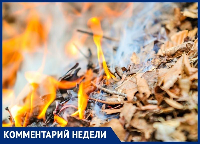 Сжигая опавшие листья в Анапе, можно получить реальный срок