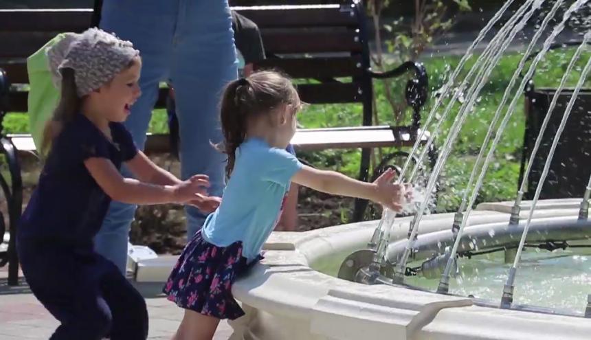 В Анапе на месте самостроя появился фонтан