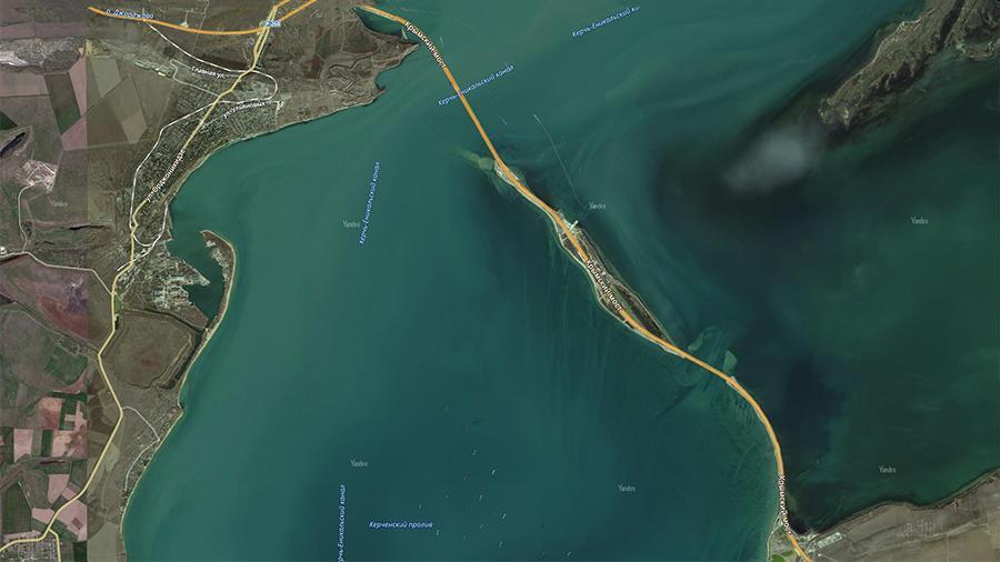 Крымский мост появился на интернет-карте